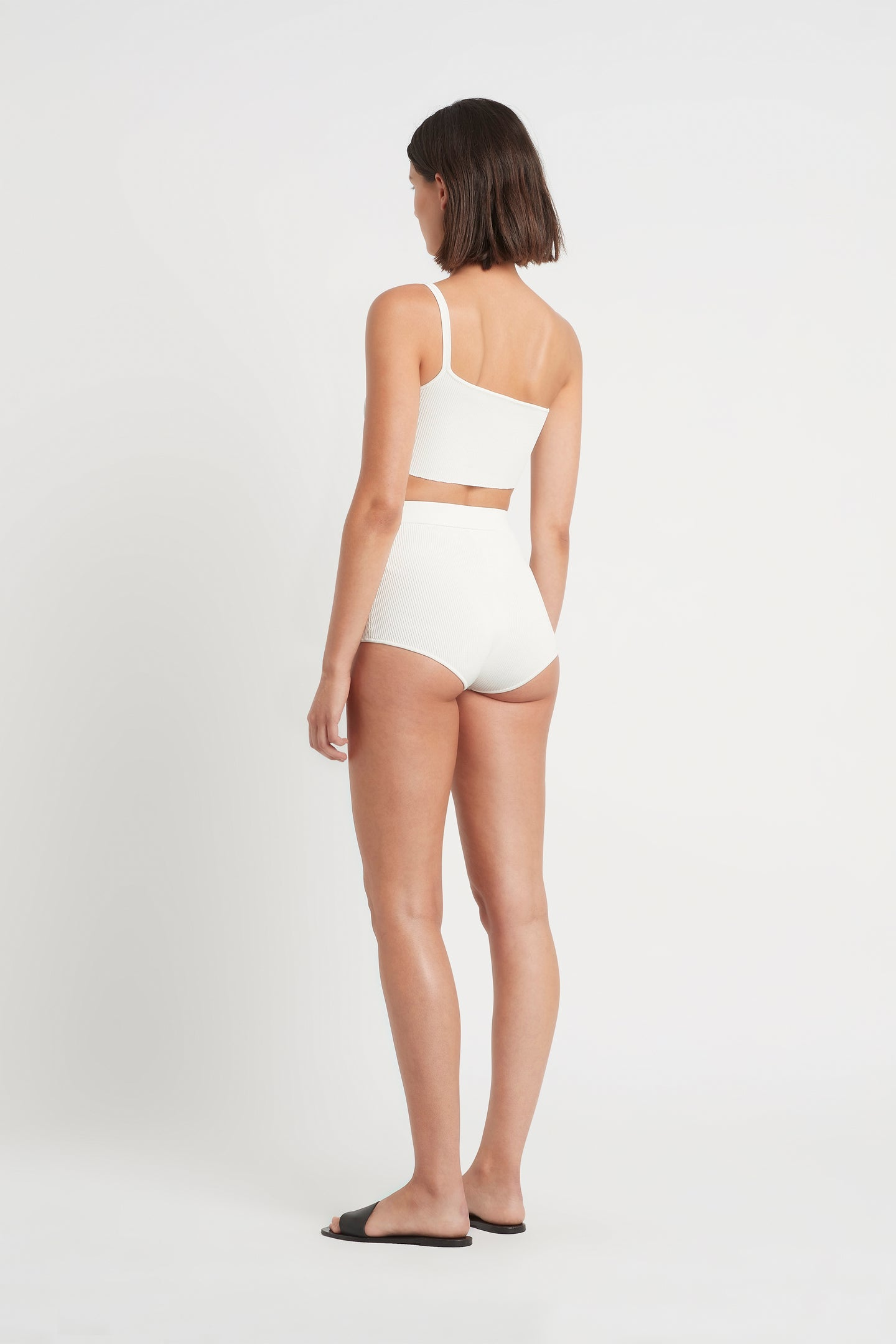 SIR the label INGRID RIBBED BRIEF IVORY
