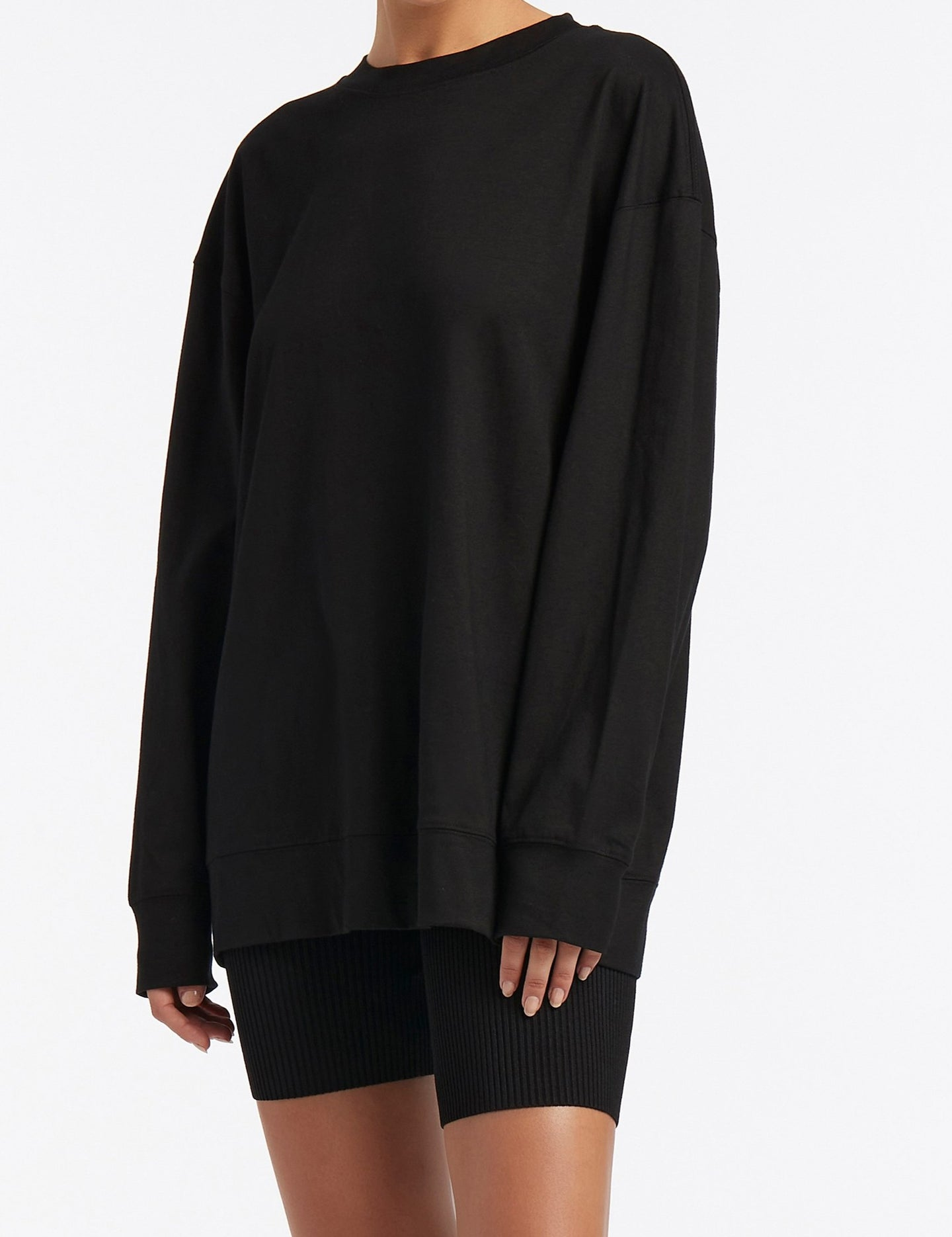 SIR the label LEONE LONG SLEEVE TEE BLACK