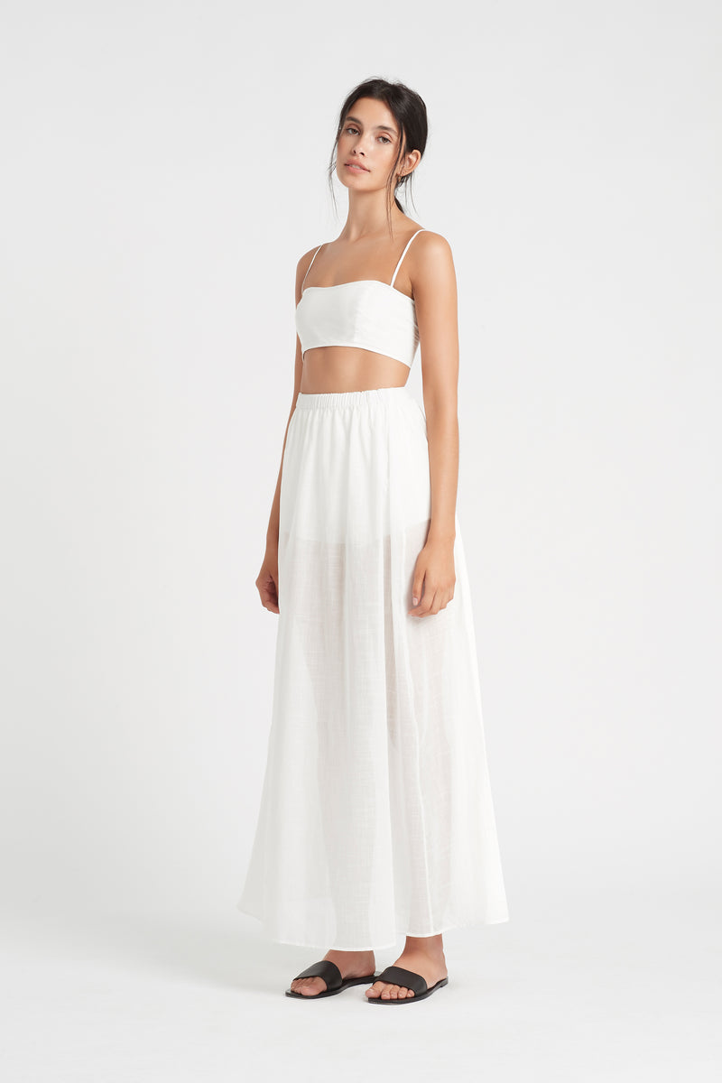 SIR the label LUCIA MAXI SKIRT IVORY