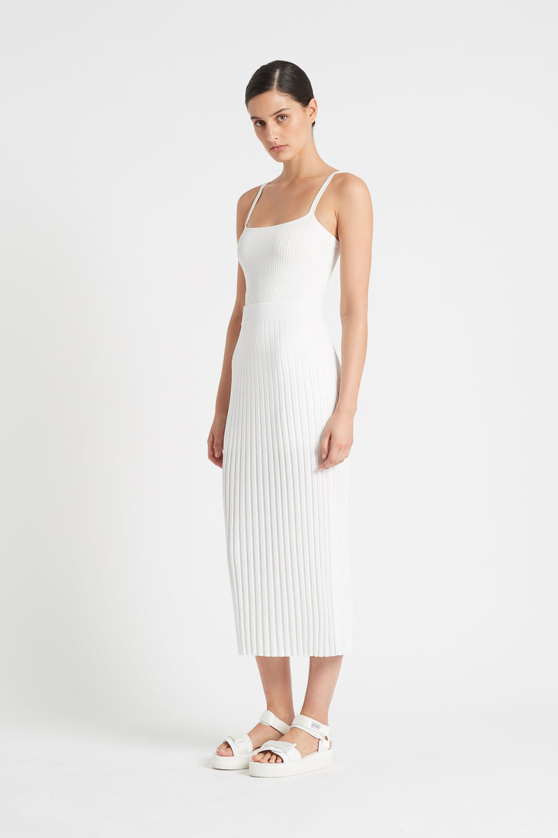 SIR the label FREYA MIDI SKIRT IVORY
