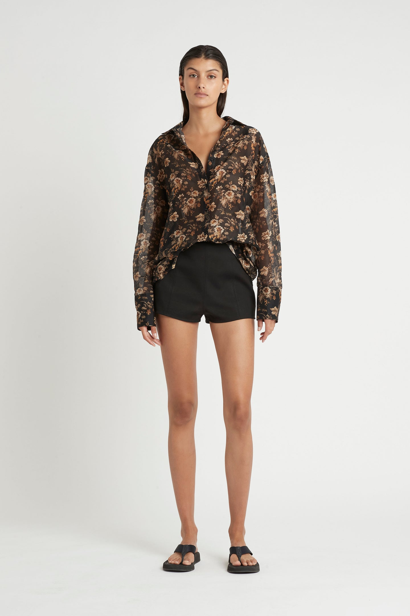 SIR the label ANDRE PANELLED SHORT BLACK