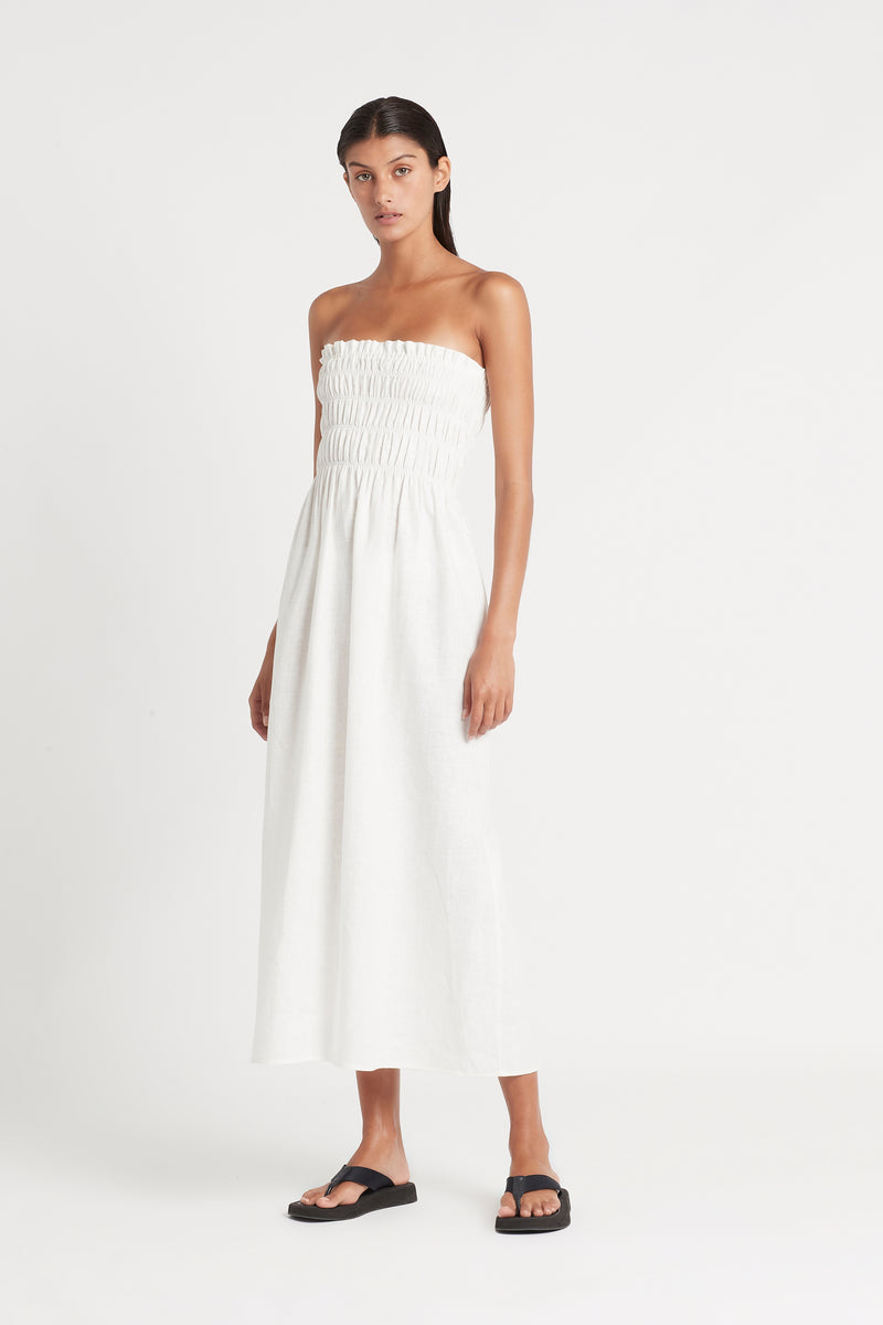 SIR the label ALENA STRAPLESS MAXI DRESS IVORY