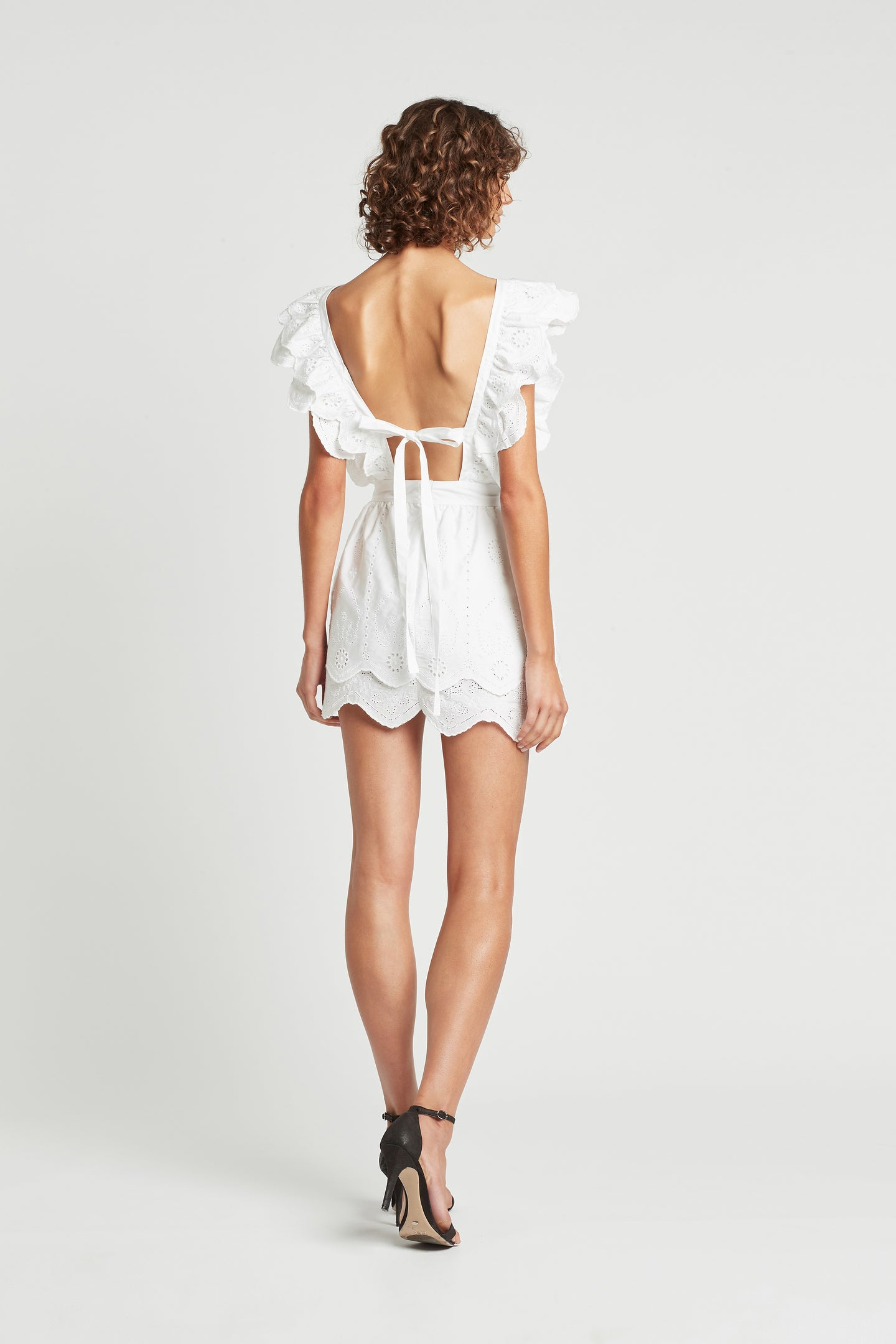SIR the label DELILAH RUFFLE MINI DRESS WHITE