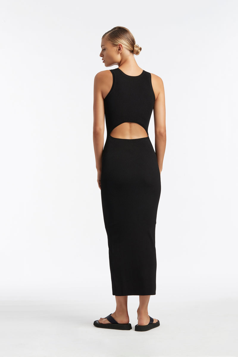 SIR the label INGRID CUT OUT MIDI DRESS BLACK