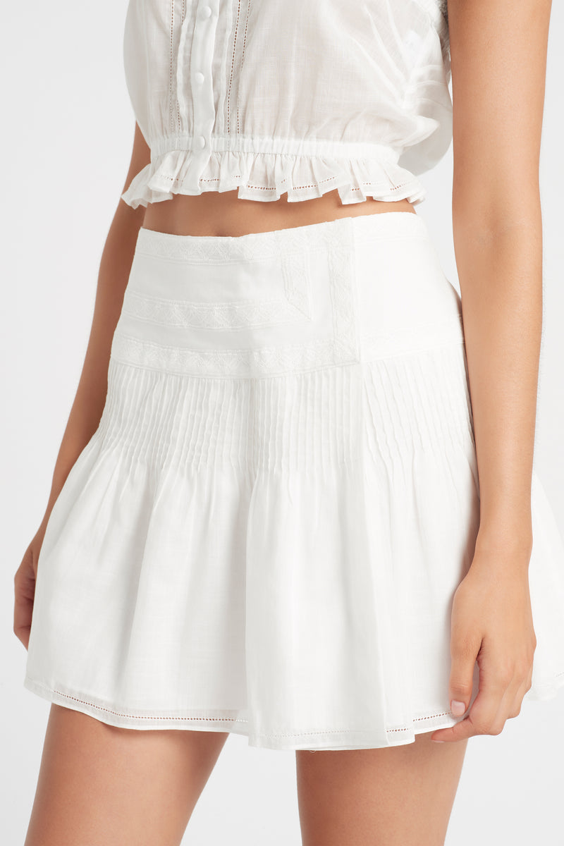 SIR the label CAPRICE WRAP MINI SKIRT IVORY