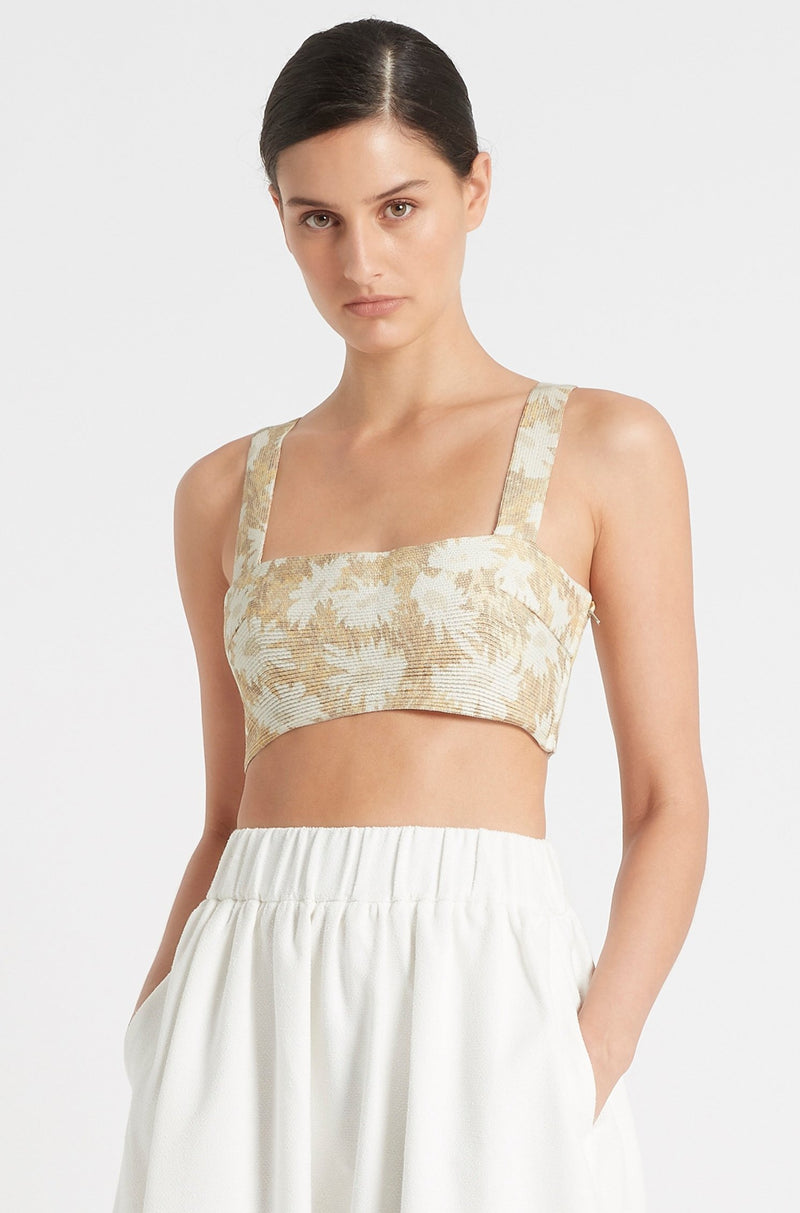 SIR the label ANAIS CROP YELLOW ANAIS PRINT