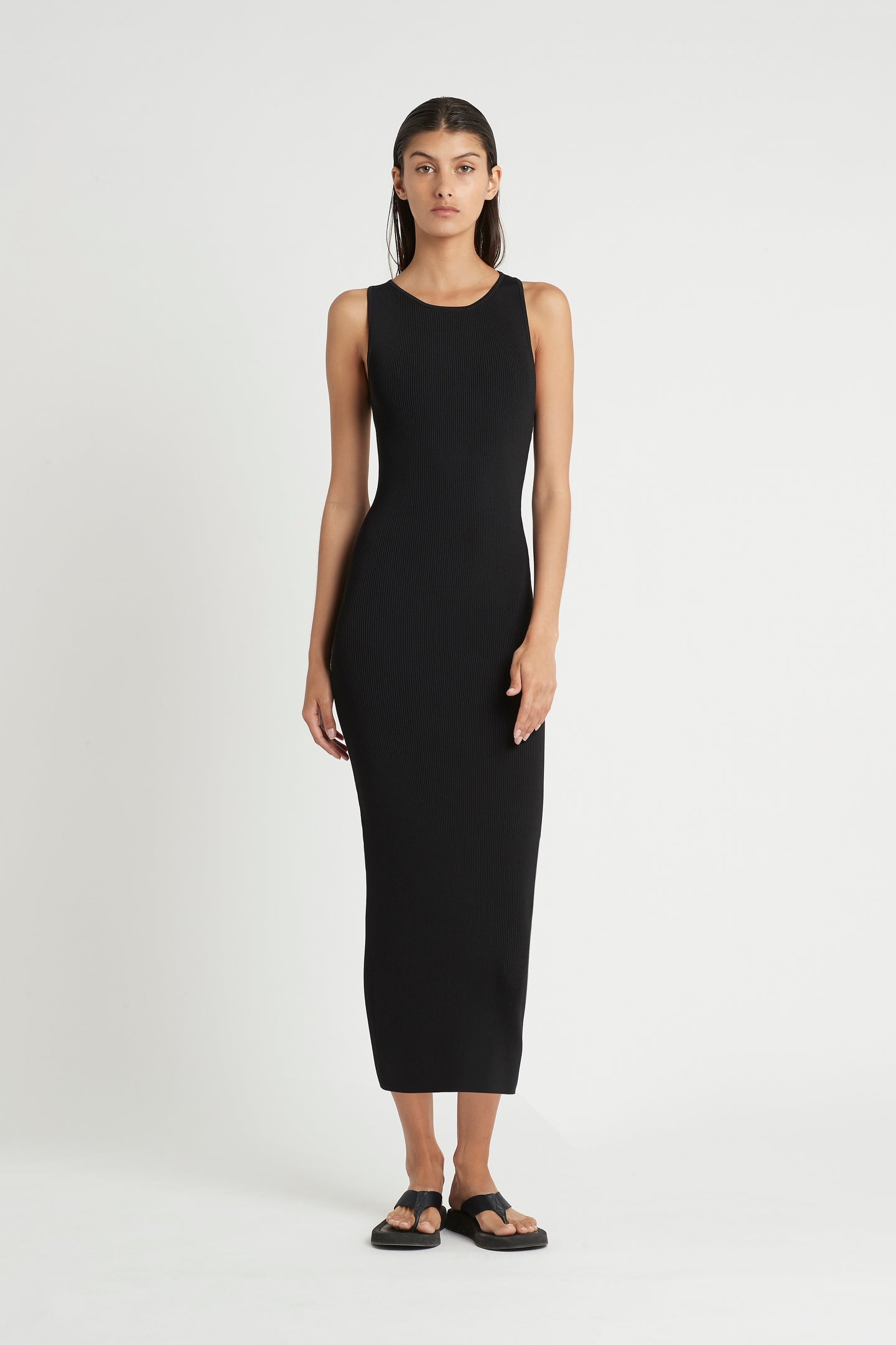 SIR the label MARCELLE OPEN BACK DRESS BLACK