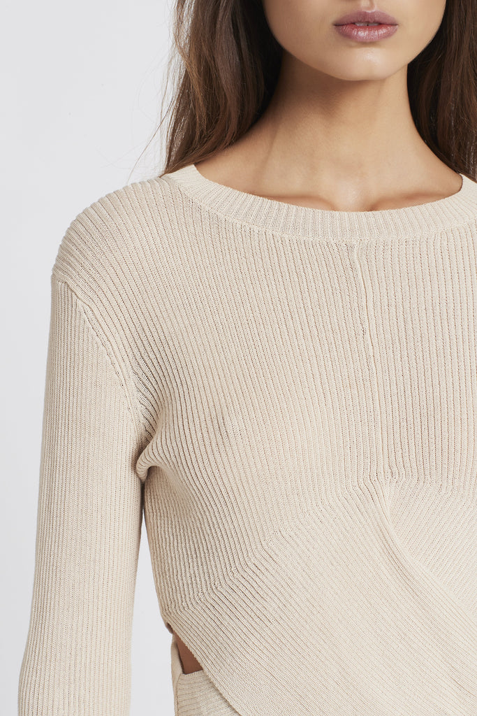 CELENA DRAPED SWEATER