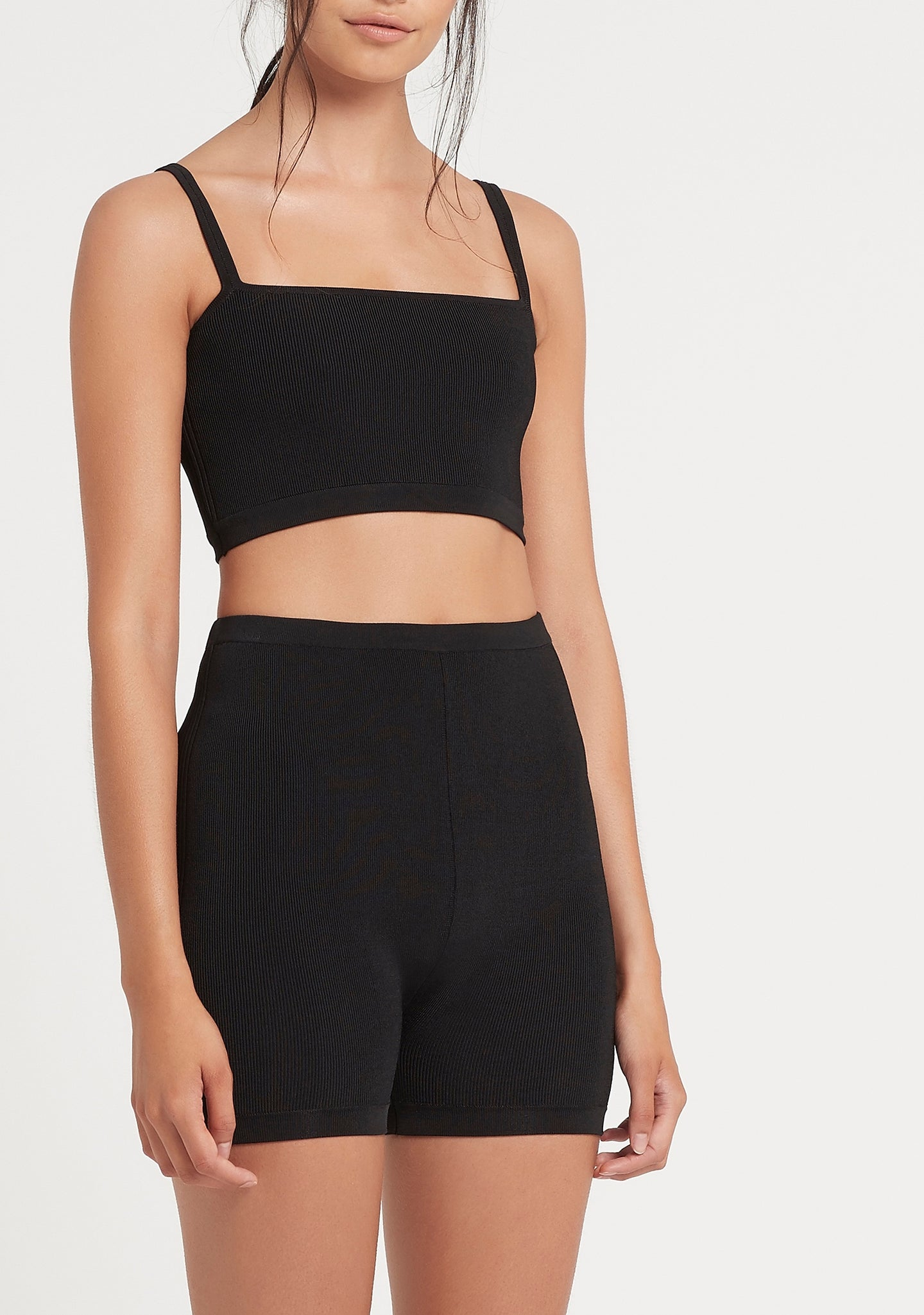 SIR the label INGRID CROP BLACK