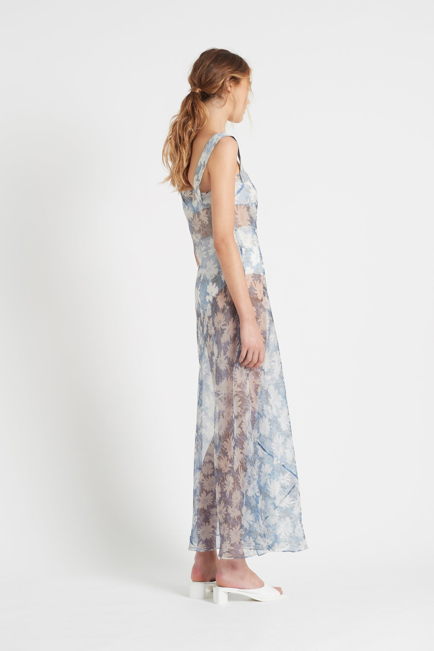 SIR the label ANAIS MAXI DRESS BLUE ANAIS PRINT