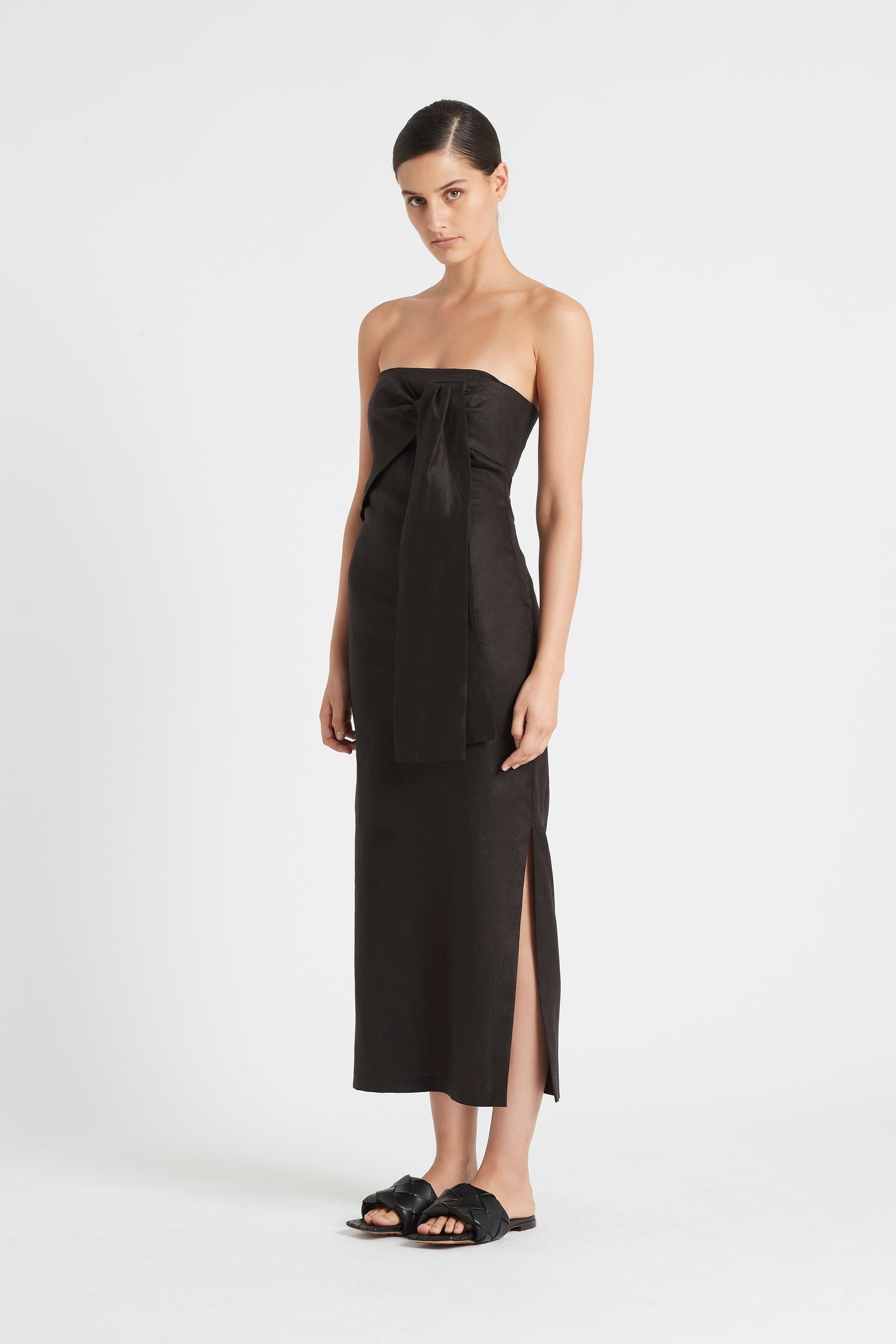 SIR the label AMBROISE STRAPLESS DRESS BLACK