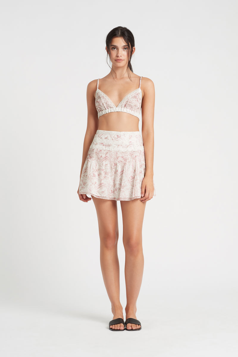 SIR the label CAPRICE PLEATED BRALETTE CAPRICE PRINT