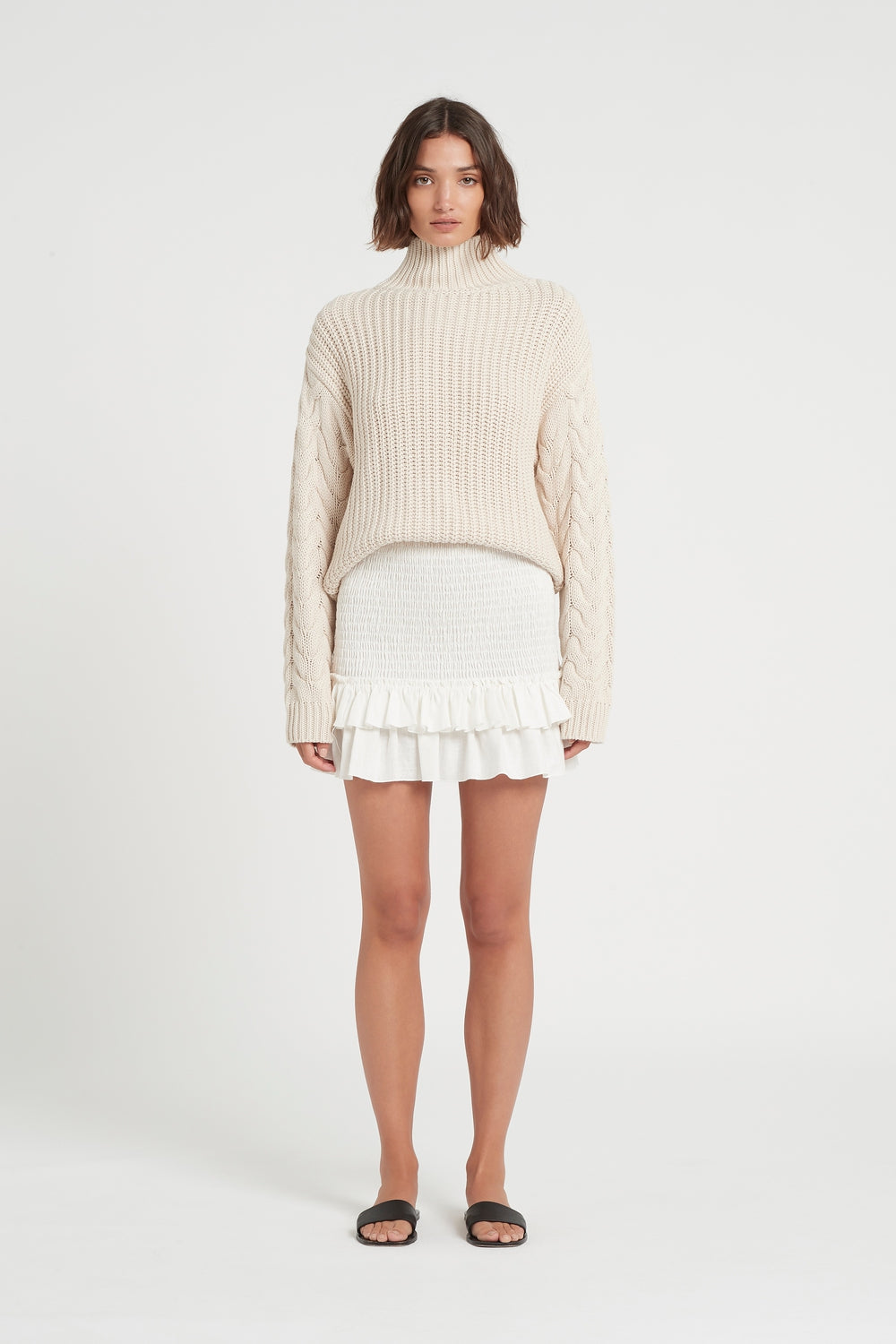 SIR the label AVA HIGH NECK SWEATER BONE