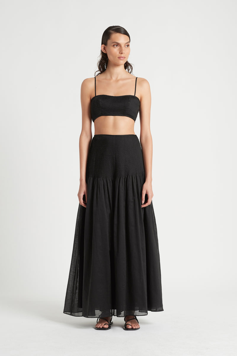SIR the label ALINA PINTUCK BANDEAU BLACK