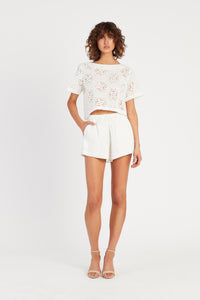 CELESTE CROPPED TEE