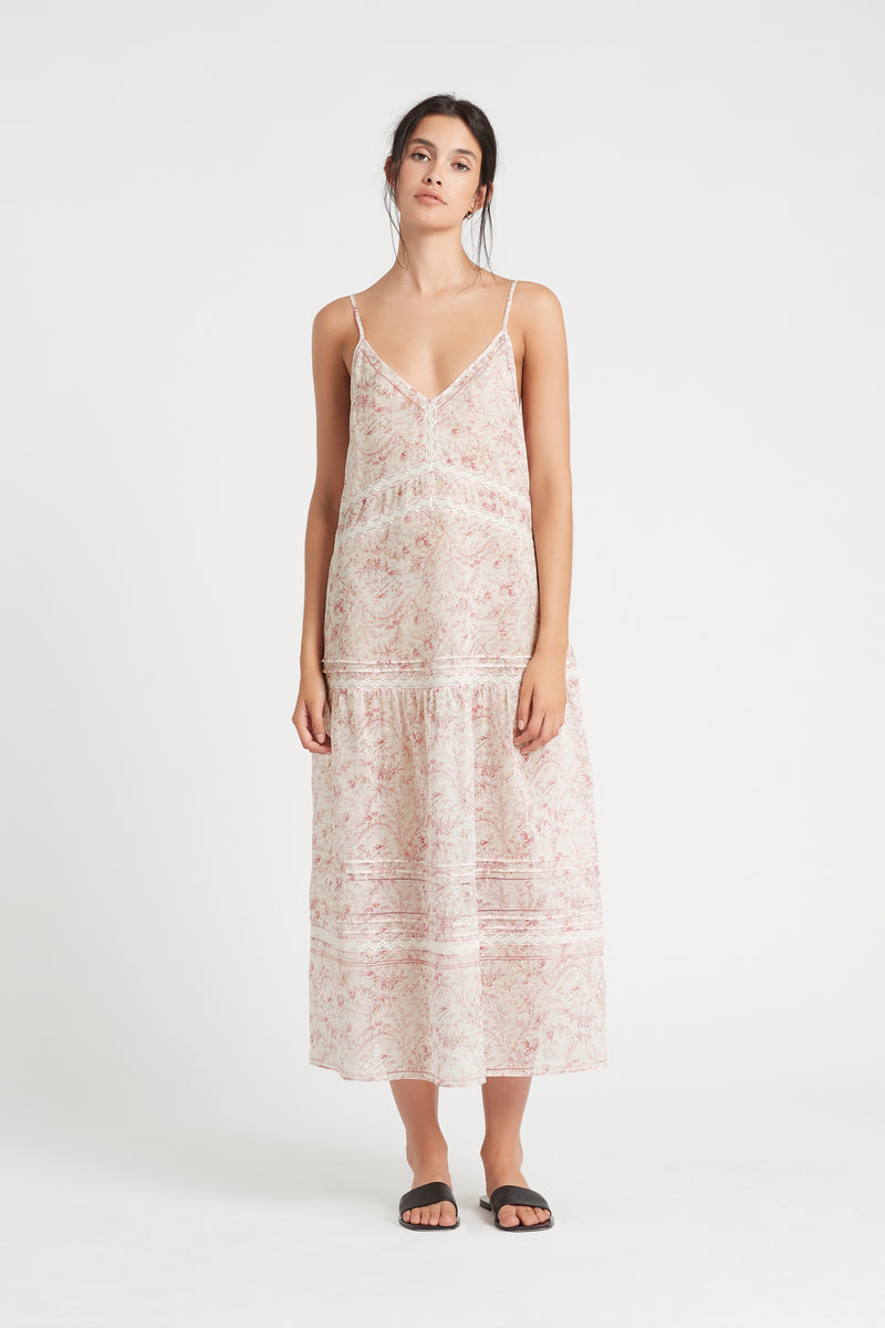 SIR the label CAPRICE PANELLED MAXI DRESS CAPRICE PRINT
