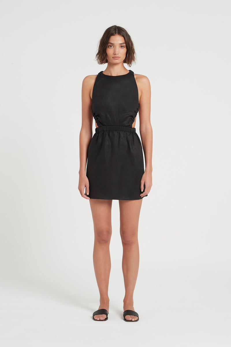 SIR the label ALENA OPEN BACK MINI BLACK