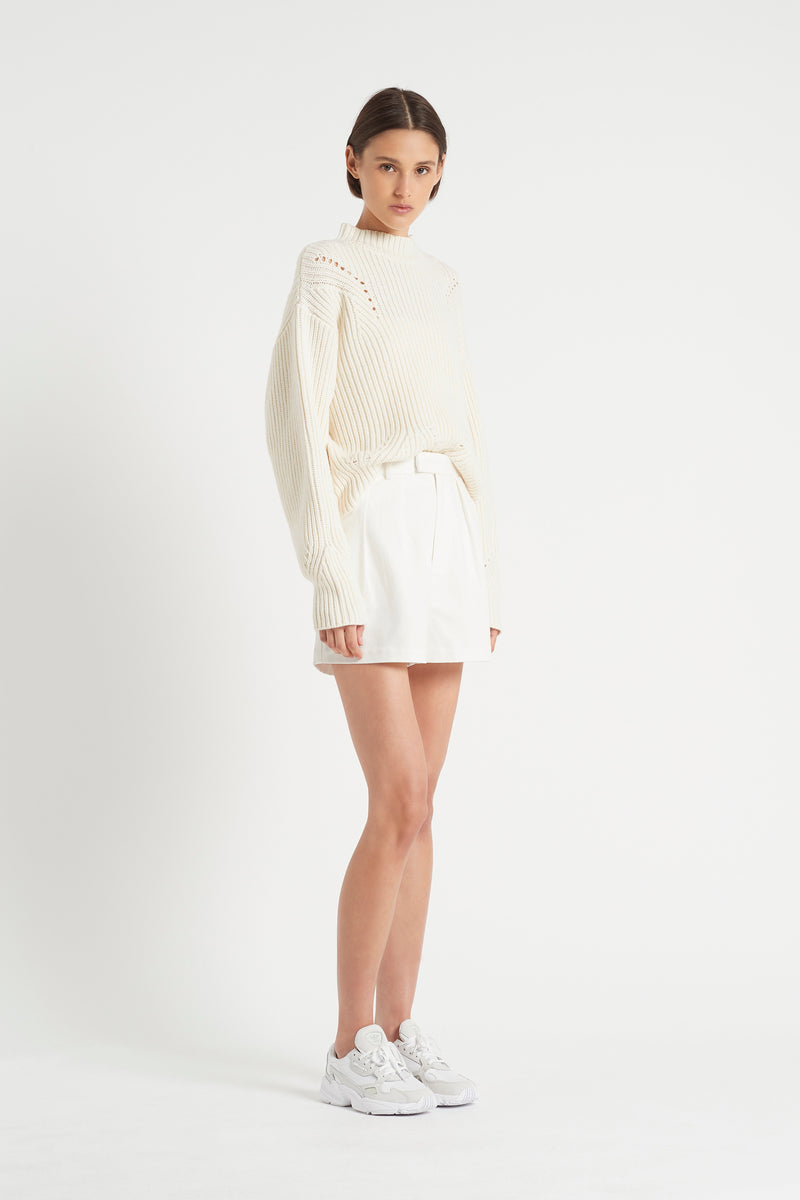 SIR the label FRANCA POINTELLE SWEATER IVORY