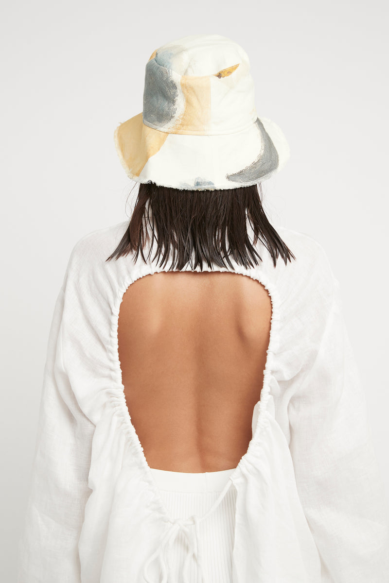 SIR the label BLANCHE OPEN BACK SHIRT IVORY