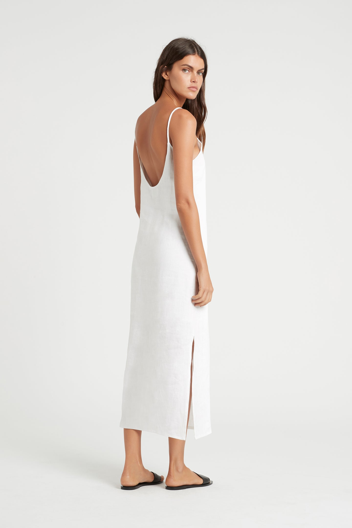 SIR the label POPPY SLIP DRESS IVORY