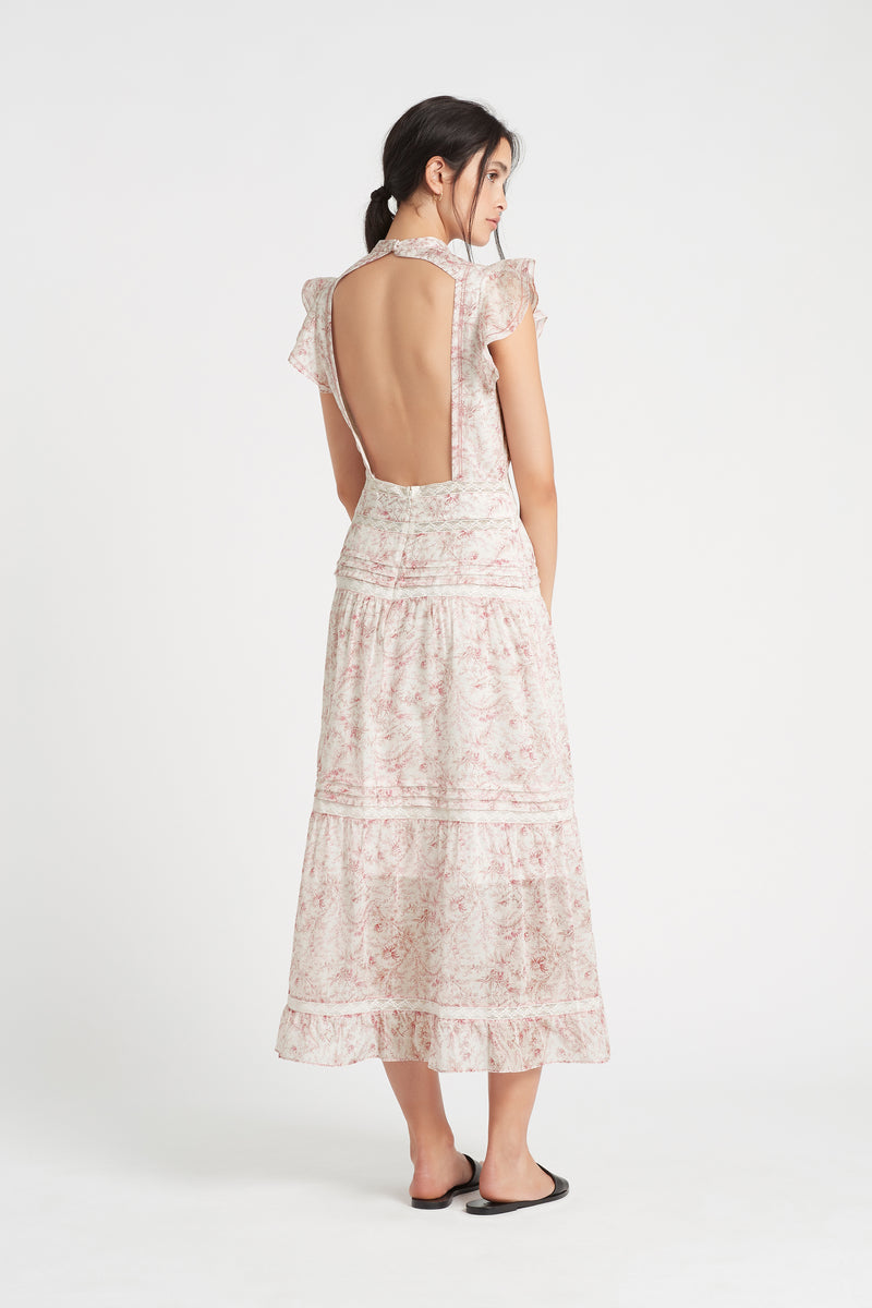 SIR the label CAPRICE OPEN BACK GOWN CAPRICE PRINT