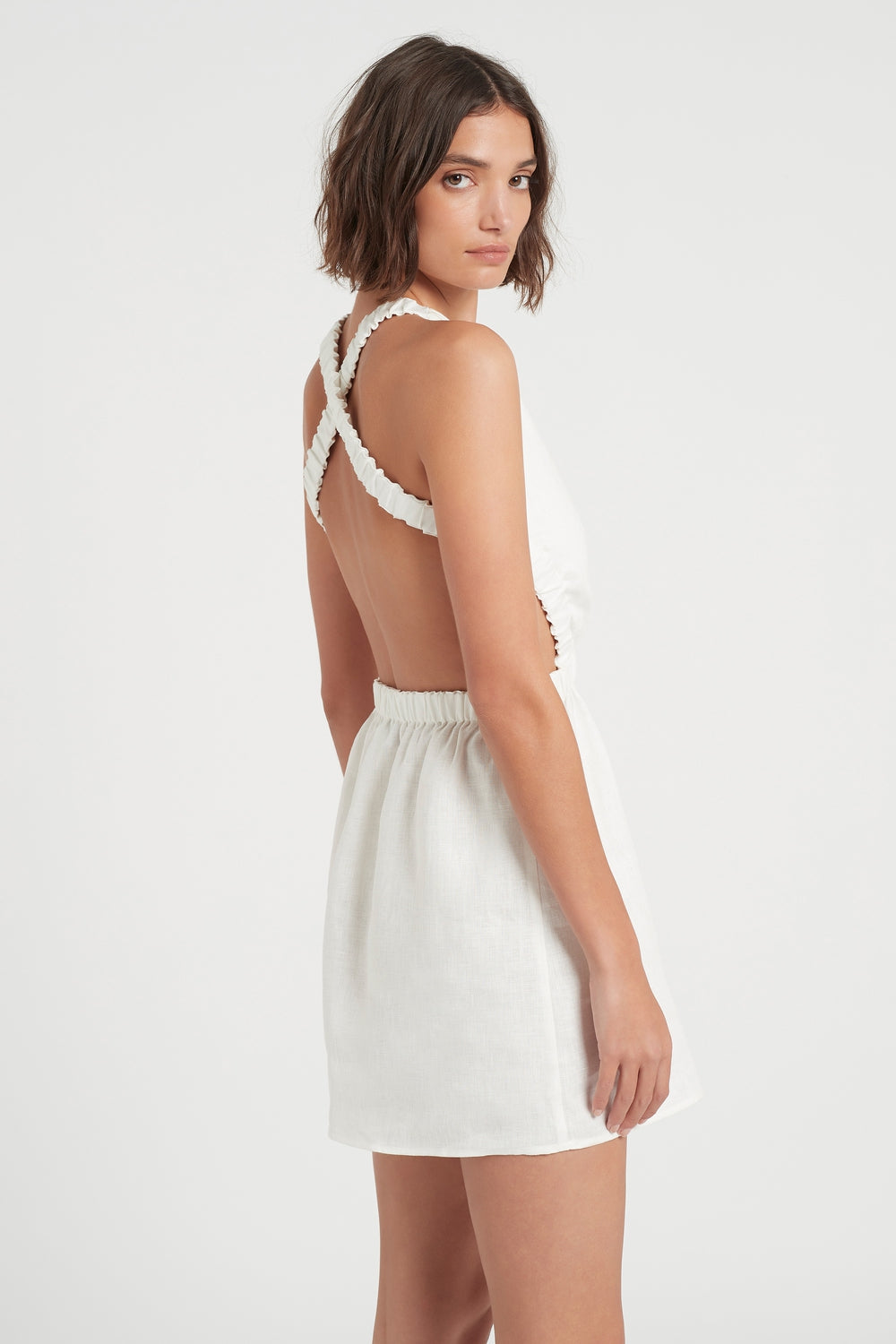 SIR the label ALENA OPEN BACK MINI IVORY