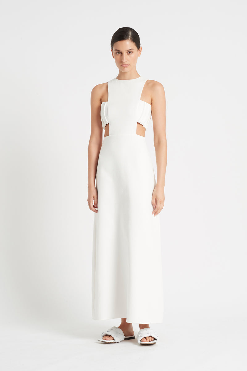 SIR the label YVES CUT OUT GOWN IVORY