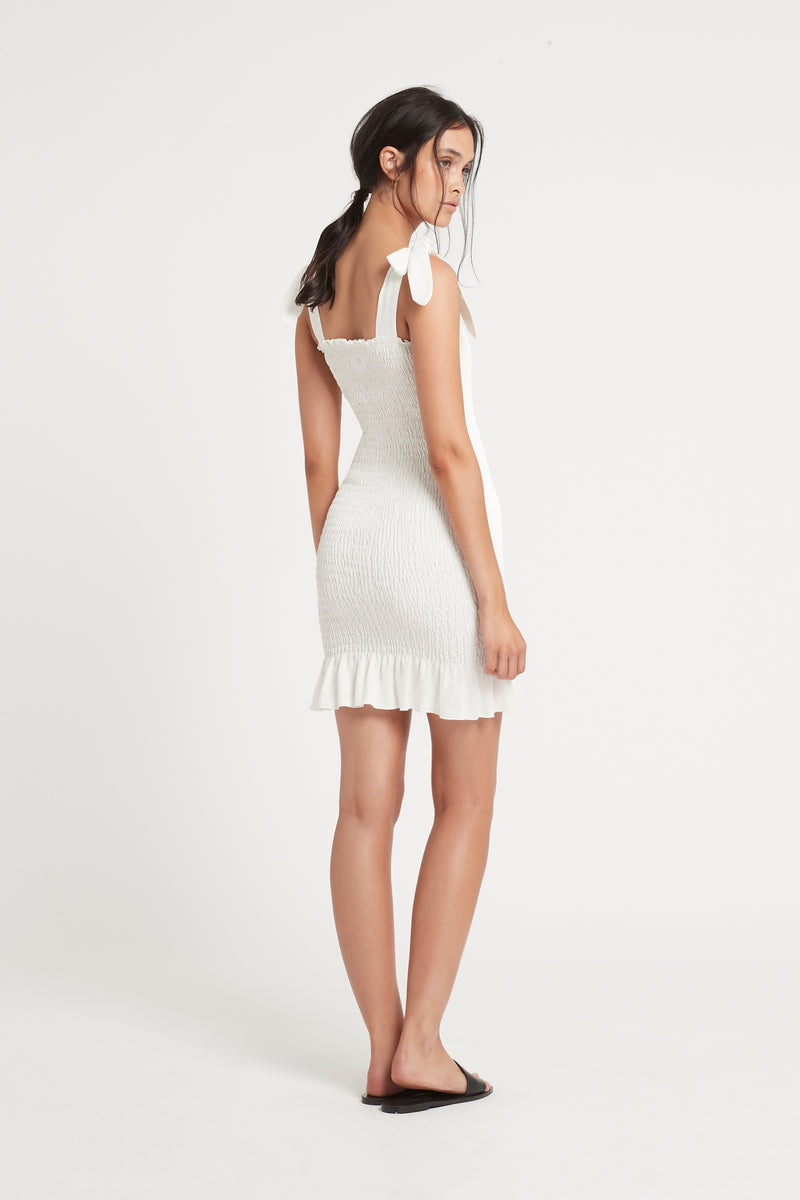 SIR the label EMILE MINI DRESS IVORY