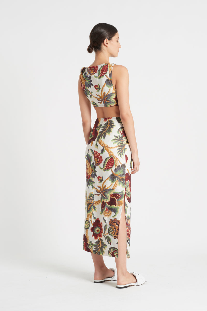 SIR the label AMBROISE KNOT DRESS AMBROISE PRINT