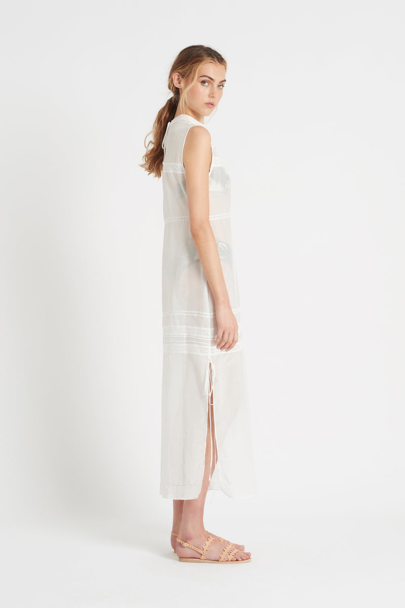 SIR the label MAISIE MIDI DRESS IVORY