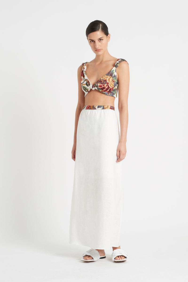 SIR the label AMBROISE KNOT BRALETTE AMBROISE PRINT