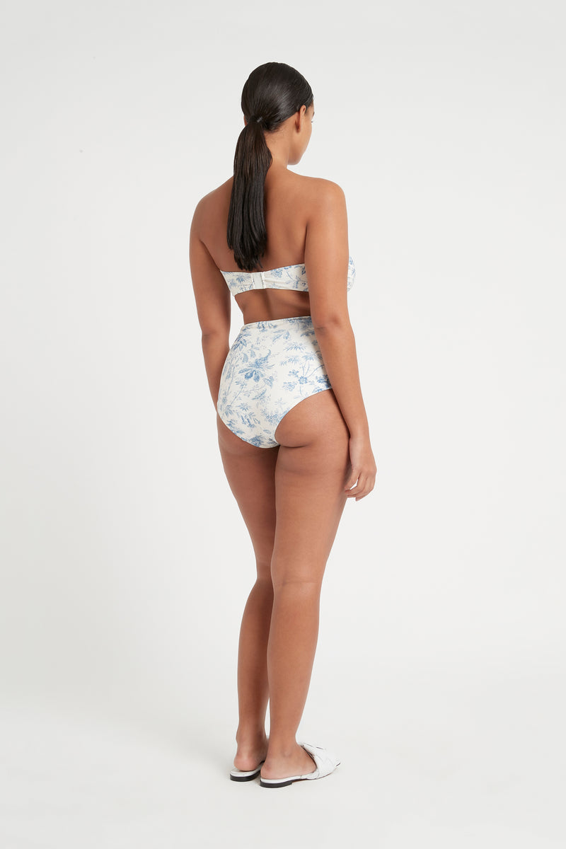 SIR the label CLEMENTINE TIE HIGH WAISTED BRIEF BLUE CLEMENTINE PRINT