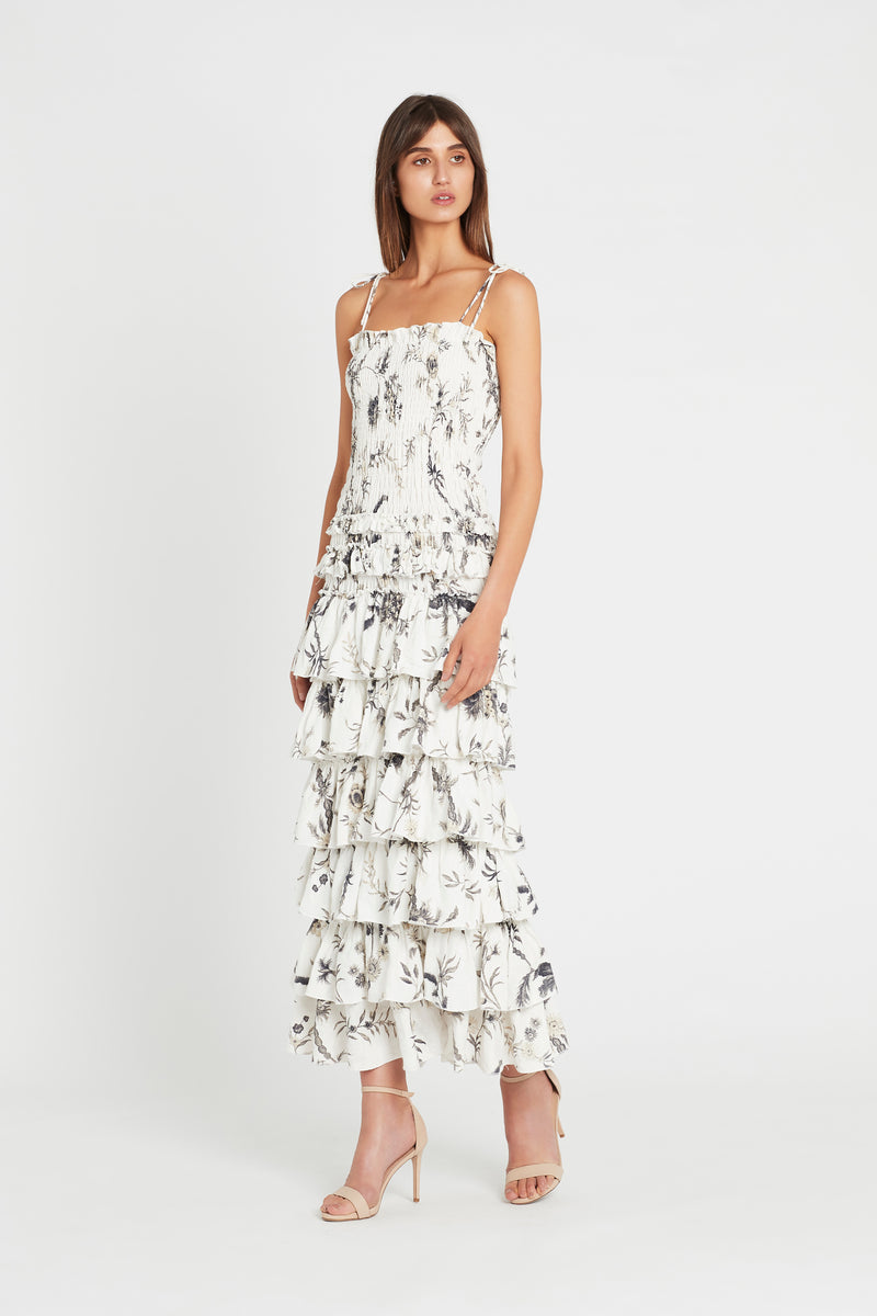 MARIELE RUFFLE MAXI DRESS