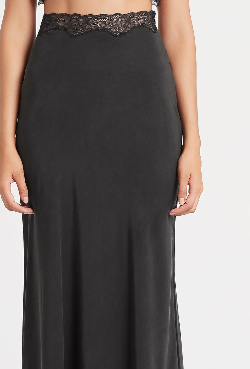 SIR the label ALMA MIDI SKIRT BLACK