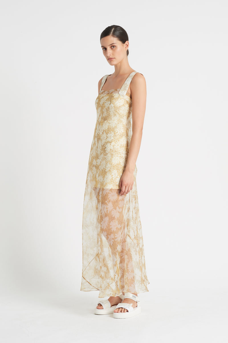 SIR the label ANAIS MAXI DRESS YELLOW ANAIS PRINT
