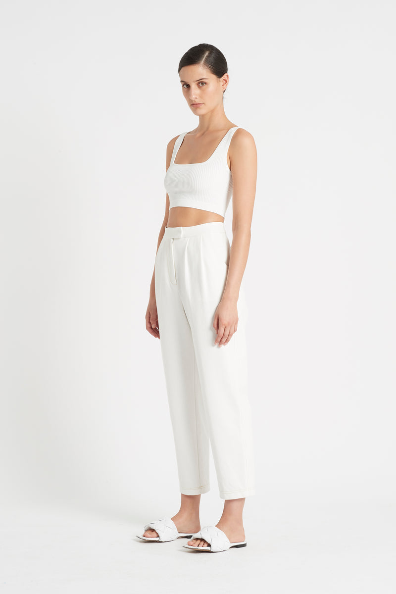 AGNES RIBBED CROP