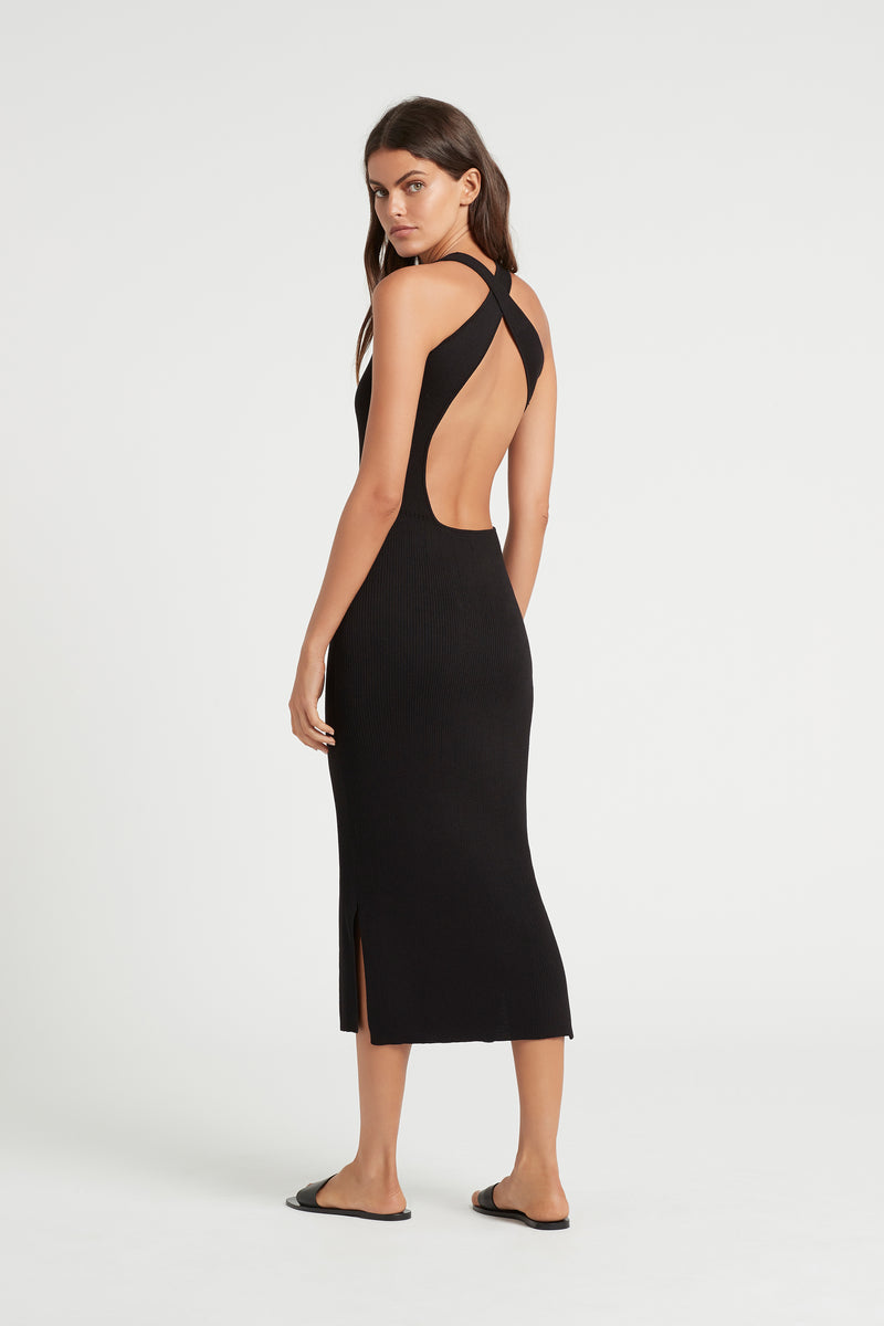 SIR the label MARCELLE OPEN BACK MIDI DRESS