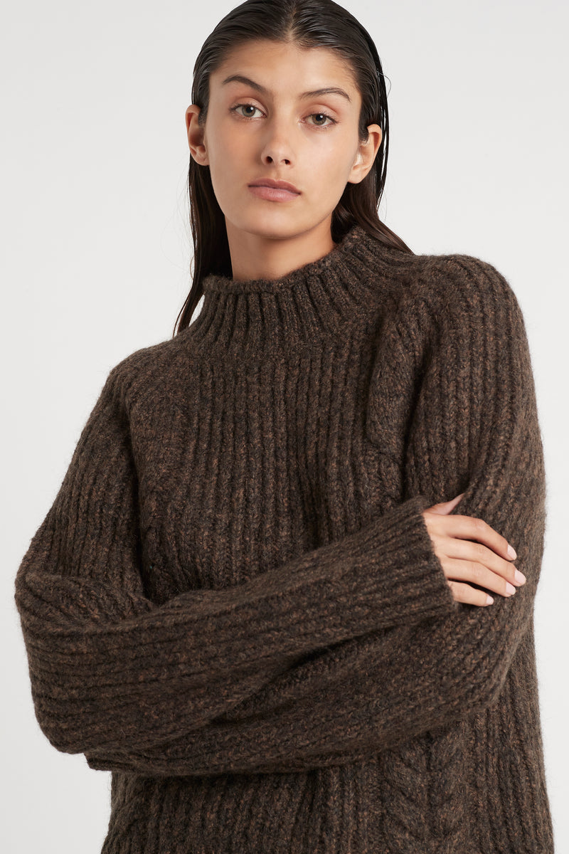 MATTI CABLE SWEATER