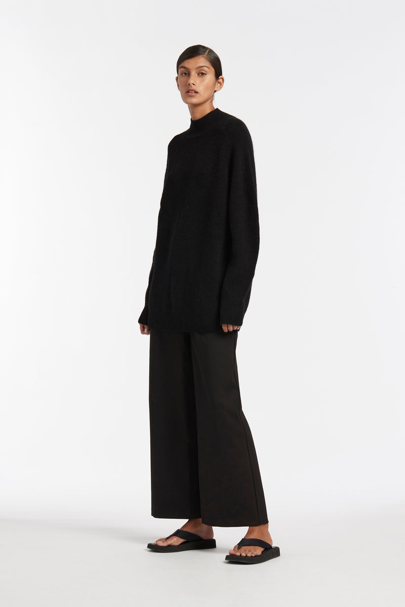 SIR the label FRANCA OVERSIZED SWEATER BLACK