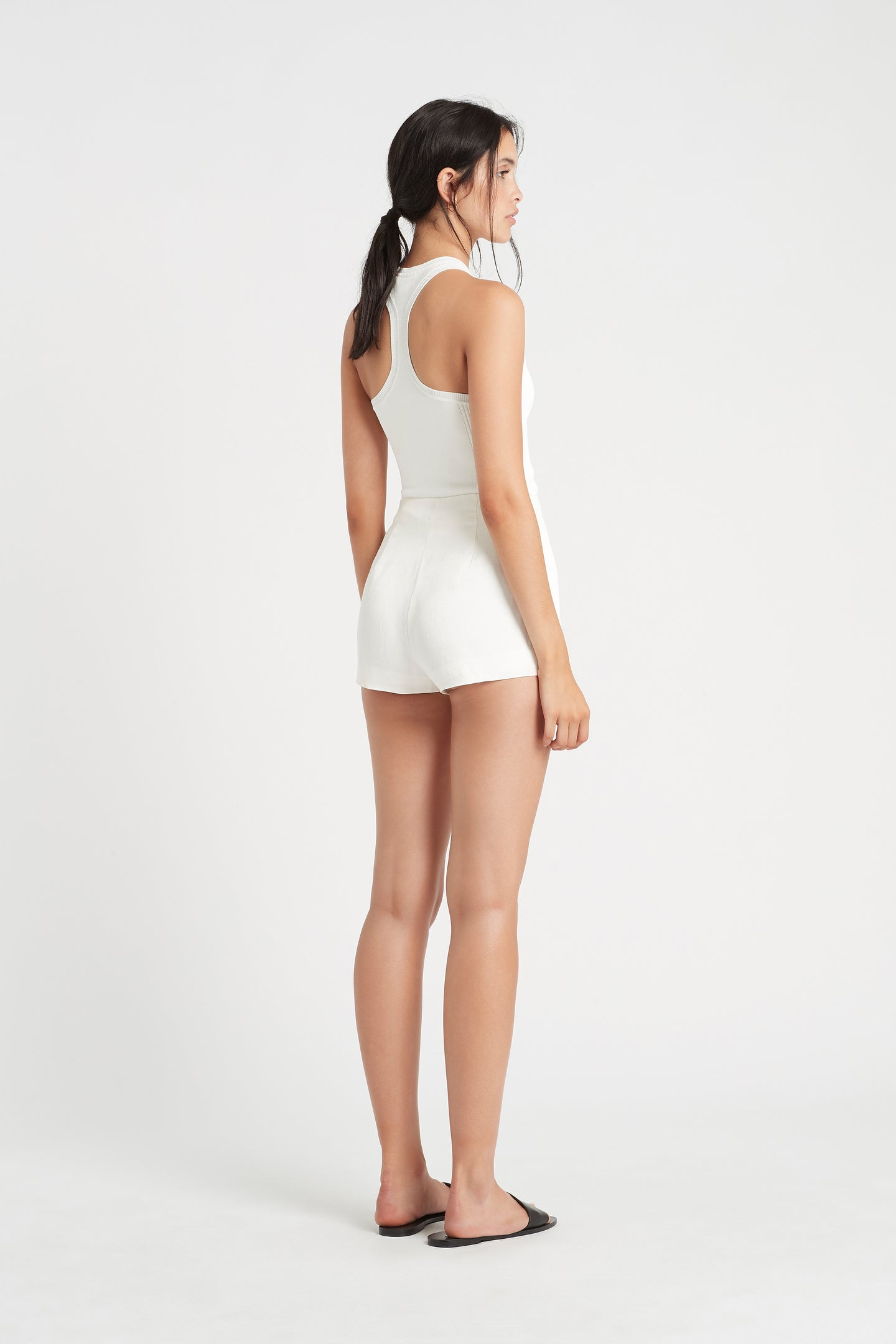 SIR the label INGRID RACER TANK IVORY