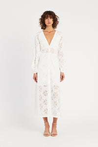 CELESTE BUTTON DOWN MAXI DRESS