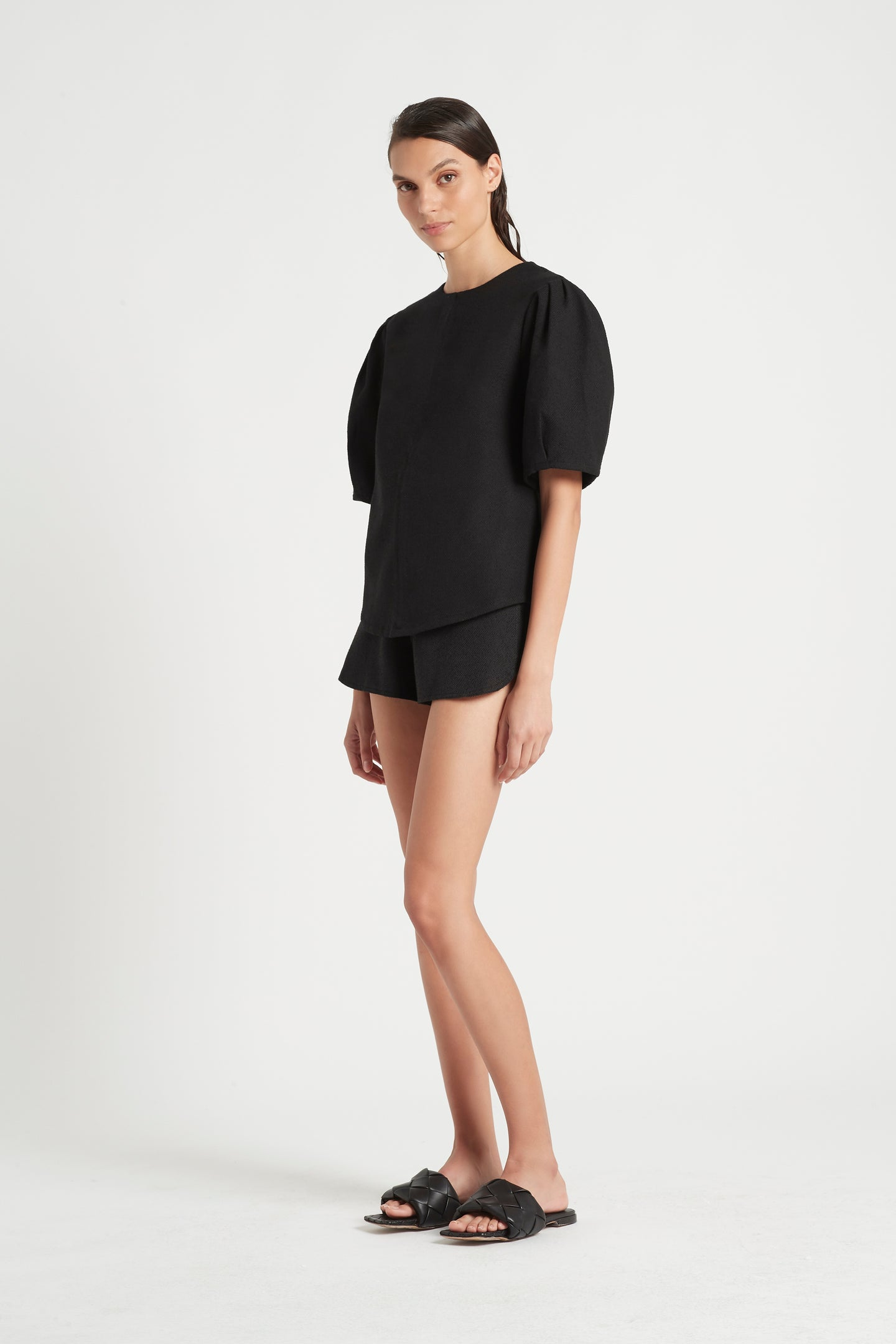 SIR the label JACQUE STRUCTURED TOP BLACK