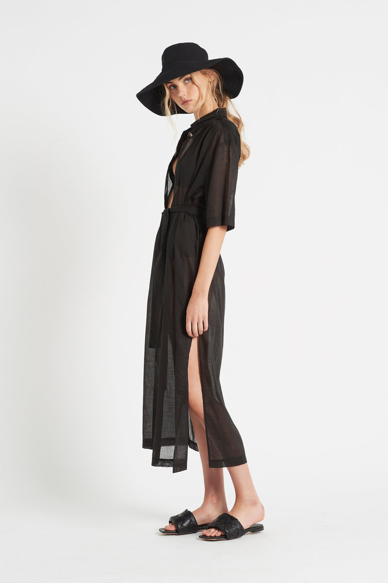 ALINA MAXI SHIRT DRESS