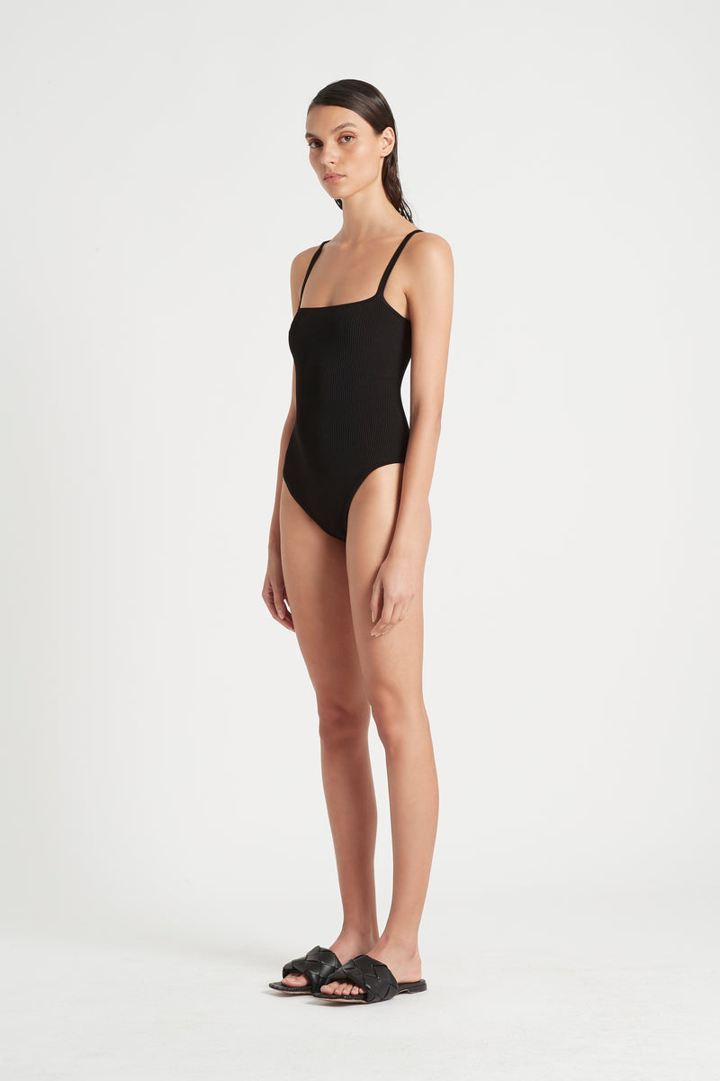 SIR the label AGNES RIBBED BODYSUIT BLACK