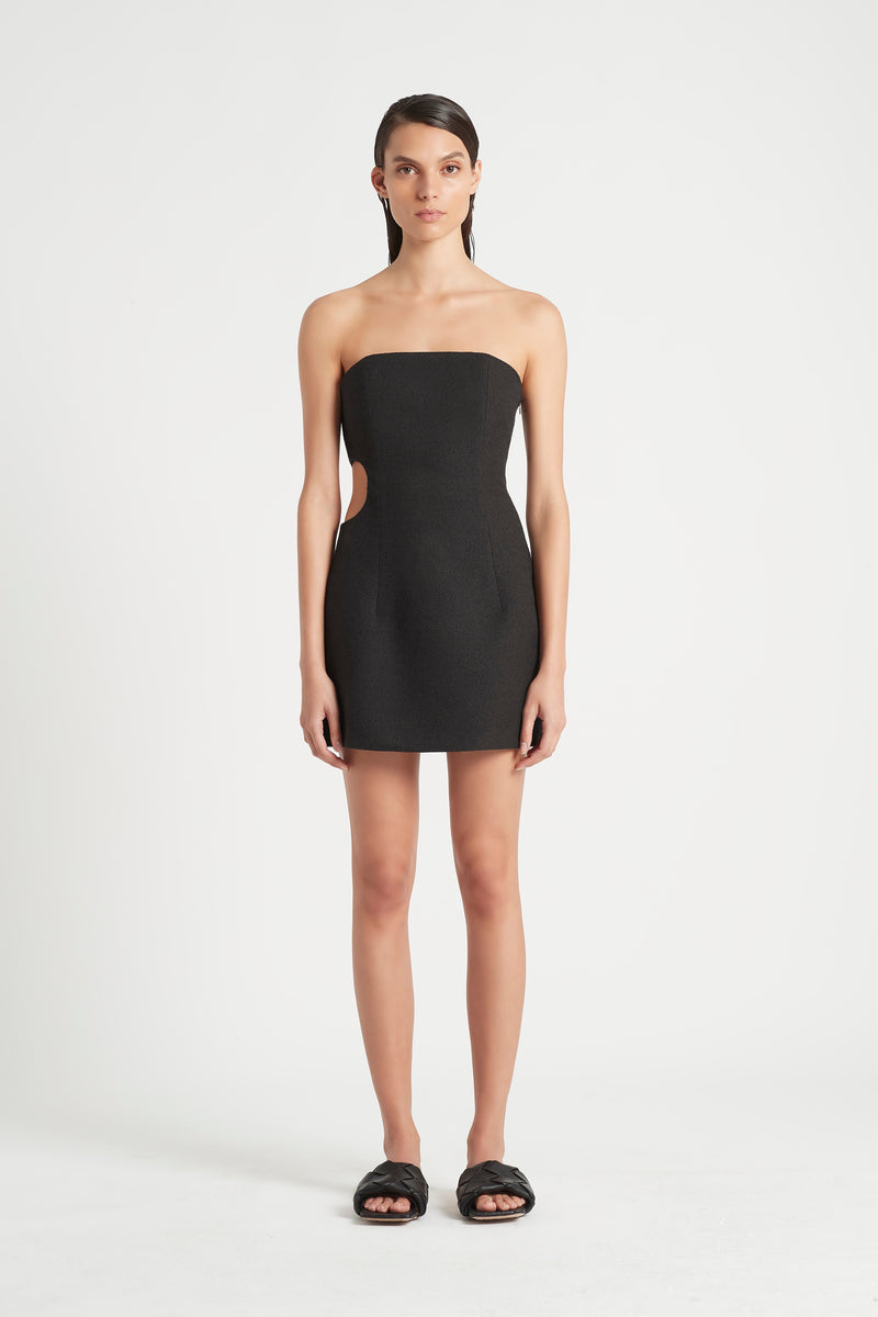 SIR the label JACQUE STRAPLESS MINI DRESS BLACK