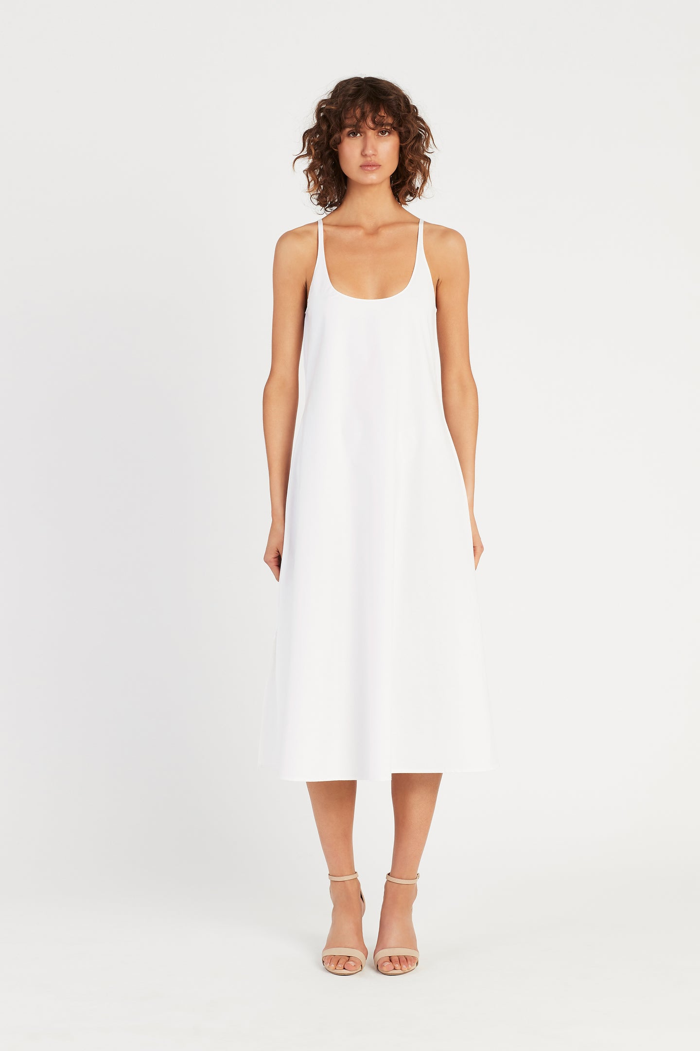 SIR the label BLAIR MIDI SLIP DRESS WHITE