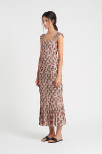 FLORÉ PANELLED MIDI DRESS