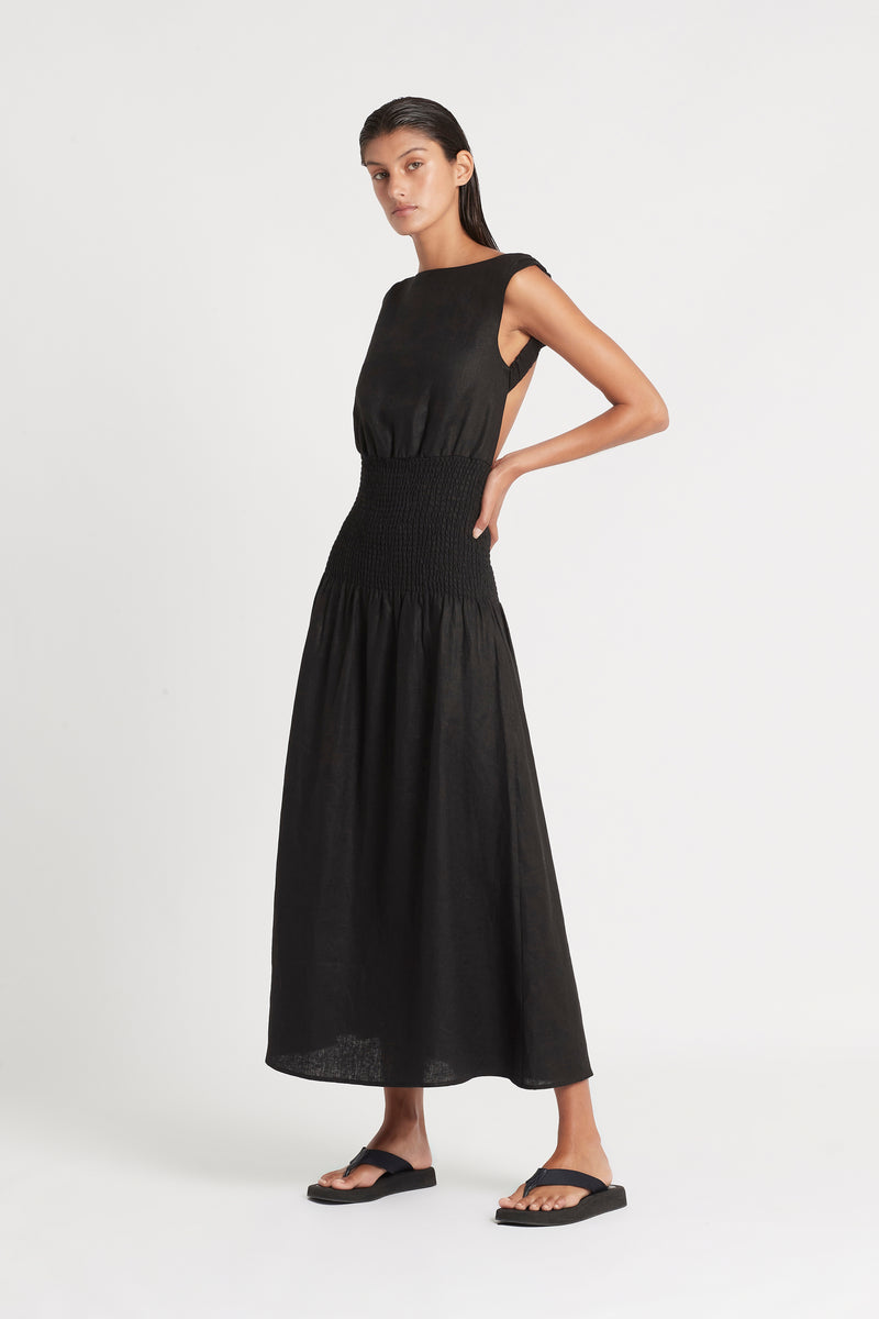 LORENA OPEN BACK MAXI DRESS