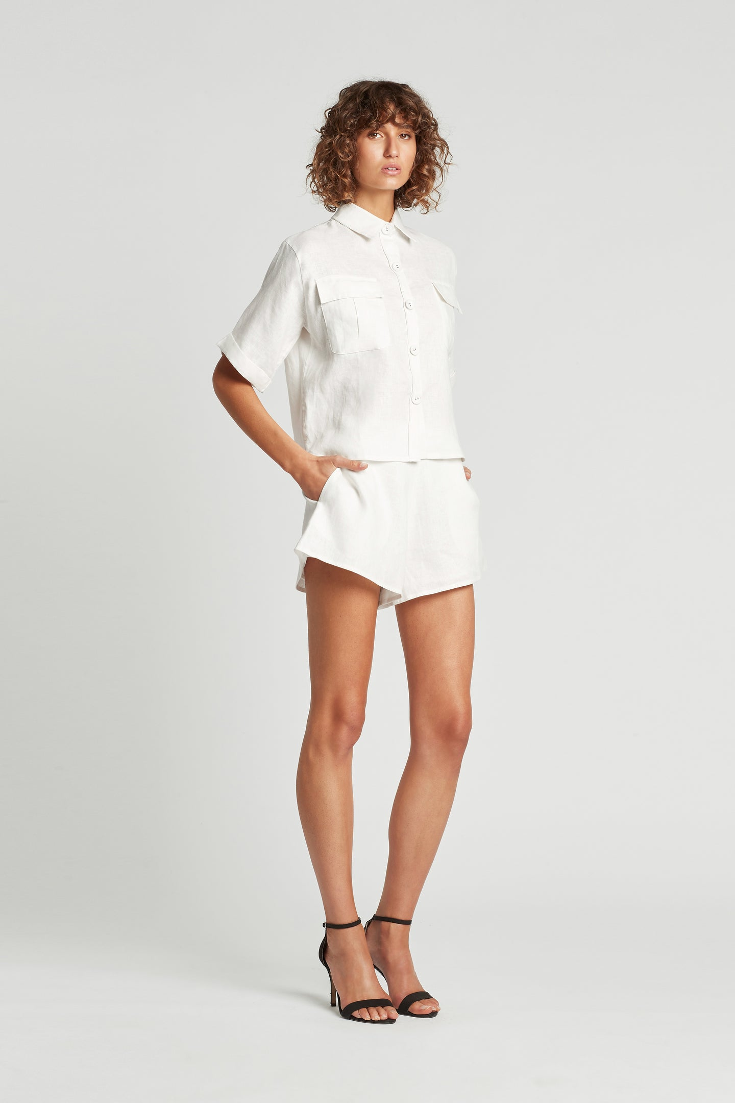 SIR the label ALENA SHIRT IVORY