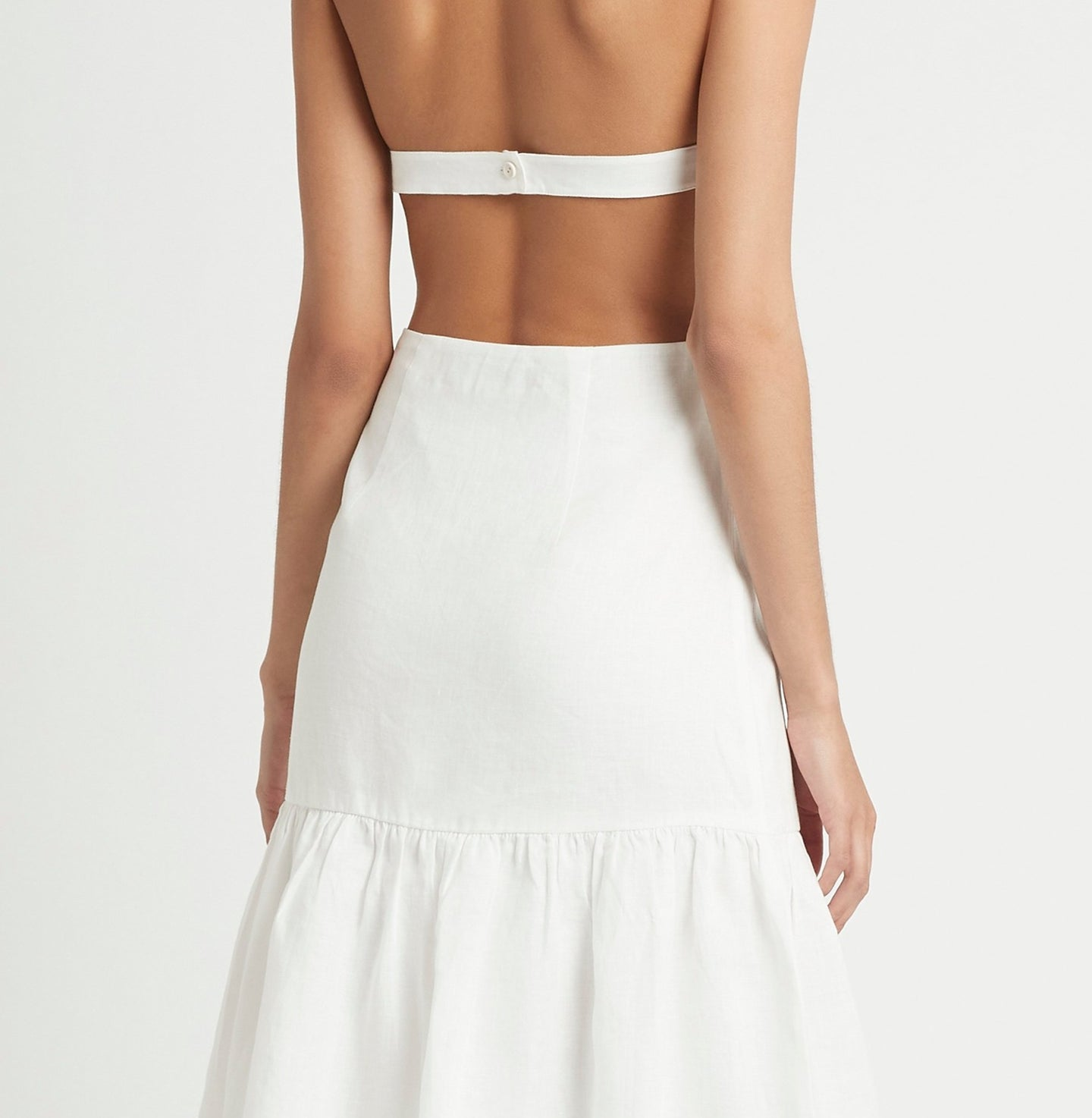 SIR the label BLANCHE HALTER  DRESS IVORY